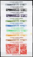 France - Planète Timbre 2010 Gravures 9 Couleurs Différentes - Non Classés