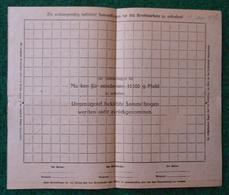 Feuille Vierge De Collecte De Tickets De Rationnement Pour Boulangers Ou Meuniers - 1914-18