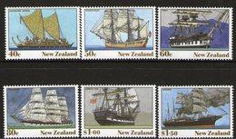 NEW ZEALAND, 1990 HERITAGE-THE SHIPS 6 MNH - New Zealand