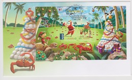 Christmas Island 2017 Christmas Miniature Sheet FDC, - Christmas Island