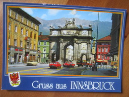 Gruss Aus Innsbruck. Seefeld. Kirche St. Oswald Gegen Wetterstein Gebirge Erinnerung An Weltmeisterschaft Und Olympische - Innsbruck