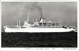 Cp Dampfer Enrico C, Ansicht Backbord - Schiffe