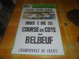 Affiche Course De Cote De Belbeuf - Affiches