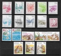 Monaco Timbres De 1986  Neufs** N°1510 A 1527 Complet  Cote 35,50€ - Ungebraucht
