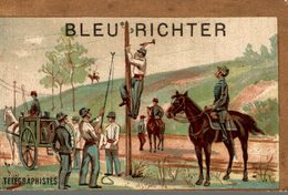 CHROMO BLEU RICHTER LILLE ET LOOS-LEZ-LILLE TELEGRAPHISTE - Trade Cards