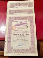 LA   MUTUELLE  Du  POITOU  ------- Lot  De  3 Obligations  De  250 Frs - Banque & Assurance