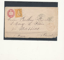 1 TIMBRE SUR LETTRE SUISSE AVEC CACHET ROUGE 1875 - 1862-1881 Sitted Helvetia (perforates)