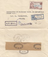 COVER GIBRALTAR BARCLAYS BANK REGISTERED  TO FRANCE - Stamps