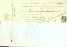 LETTRE DE CHANGE-12-ZELE-VAN LANTSCHOOT MOENS/PIETER VAEL LETTERKUMING-1909 - Estampas & Grabados