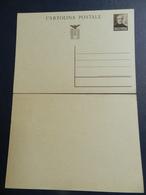 19899) CARTOLINA INTERO POSTALE REPUBBLICA SOCIALE CENT. 30 NON VIAGGIATA - 4. 1944-45 Repubblica Sociale