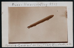 Foto AK/CP  Zeppelin Luftschiff Victoria Luise    Prinz Heinrich Flug    Ungel/uncirc.1913  Erhaltung/Cond. 2  Nr. 00615 - Airships