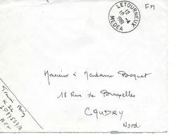 Lettre Algérie Letourneux Médéa 1961 - Algérie (1924-1962)