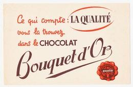 Buvard 20.8 X 13.5 Le Chocolat BOUQUET D'OR - Chocolat