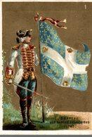 CHROMO LA CHICOREE A LA BOULANGERE CANDELIEZ SAINTE-OLLE-LEZ-CAMBRAI DRAPEAU DES GARDES FRANCAISES 1763 - Chromos