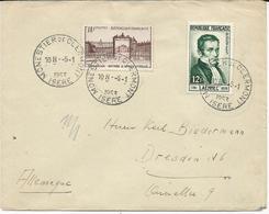 LETTRE  POUR L'ALLEMAGNE 1953 AVEC 2 TIMBRES - LAENNEC / VERSAILLES - - Storia Postale