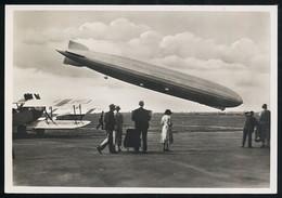 Foto AK/CP  Graf Zeppelin Luftschiff  LZ 127   Landung  Hamburg   Ungel/uncirc.1930er  Erhaltung/Cond. 2  Nr. 00618 - Dirigibili