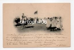 - CPA BISKRA (Algérie) - Fête Arabe 1902 (belle Animation) - Photo VOLLENWEIDER N° 32 - - Biskra