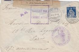 COVER  SWITZERLAND 1915 WWI  MONTANA-VERMALA TO FRANCE CENSOR PONTARLIER - Postzegels