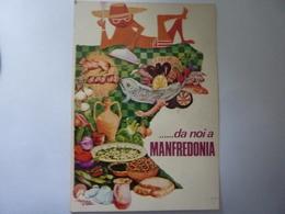 """Cartolina Viaggiata  Illustratore """"DA NOI A MANFREDONIA""""  1984 - Manfredonia"""