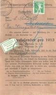 NN Streifbandvs  Zürich Hirslanden -  Biberist  (Annahme Verweigert)           1912 - Suisse