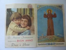 """Calendario Pieghevole """"MISSIONI APOSTOLICHE FRANCESCANE 1960"""" - Calendriers"""