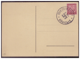 Sudetenland (00007641) Postkarte Mit Befreiungsstempel Wir Sind Frei, Oderfurt, Blanco Gestempelt - Sudetenland