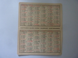 """Calendario Pieghevole """"SANTUARIO SACRO CUORE SALESIANI BOLOGNA 1970"""" - Calendari"""