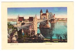 AK Bonn, Rheinbrücke, Gel. 1918 - Bonn
