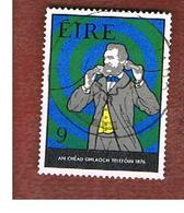 IRLANDA (IRELAND) -  SG 389  -    1976 TELEPHONE CENTENARY: A.G. BELL       -     USED - 1949-... Repubblica D'Irlanda