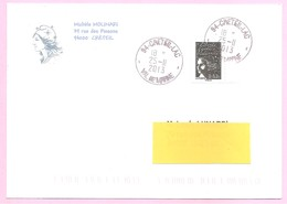Marianne De LUQUET. N°4790 - 0,63 Euro; Noir Gommé. Issu De La Bande Carnet N°1520A.  TP Sur Lettre. Obl. Manuelle. TB - 1997-04 Marianne (14. Juli)