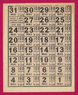 Grille De Tickets Pour Cent Grammes De Pain Du Ministère De L'Agriculture Et Du Ravitaillement - Mois De Mai 1919 - 1914-18