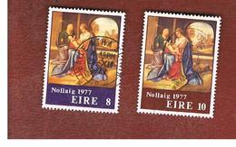 IRLANDA (IRELAND) -  SG 416.417   -    1977  CHRISTMAS         -     USED - 1949-... Repubblica D'Irlanda
