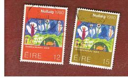 IRLANDA (IRELAND) -  SG 471.472   -    1980 CHRISTMAS  -     USED - 1949-... Repubblica D'Irlanda