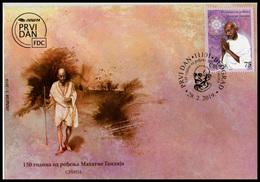 Serbia 2019. 150 Years Since The Birth Of Mahatma Gandhi, India, FDC, MNH - Serbie