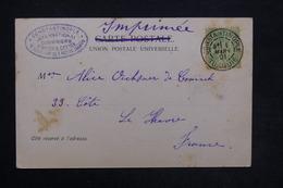 FRANCE - Affranchissement Au Type Sage De Constantinople En 1901 Sur Carte Postale Pour Le Havre - L 24272 - Postmark Collection (Covers)