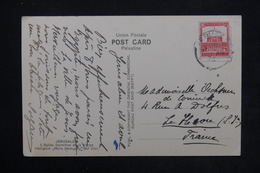 PALESTINE - Affranchissement De Jérusalem Sur Carte Postale En 1935 Pour Le Havre - L 24274 - Palestine
