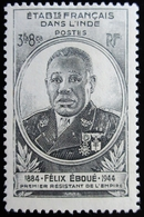 1945  Inde Yt 234 . Governor General Eboue .  Neuf Infime Trace Charnière - India (1892-1954)