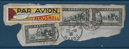 Vignette PAR AVION  HUILE AEROSHELL  Sur Fragment - Commemorative Labels