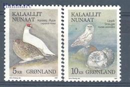 Greenland 1987 Mi 176-177 MNH ( ZE3 GNL176-177 ) - Owls