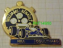 F1  WILLIAMS RENAULT  95 1995  HILL  COULTHARD     Cartouche Bleu Chrono Noir & Blanc En Version ZAMAC - F1