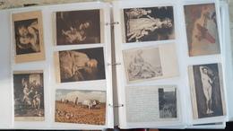 Lot + 600 CPA - Cartes Postales Anciennes - Femmes Portraits Enfants Art Tableau Nu Publicités Timbres - Voir Scans - Postales