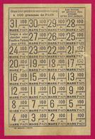 Planche Mensuelle De Tickets Quotidiens De Pain De Cent Grammes - Mois De Mars 1918 - 1914-18