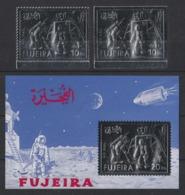 1971 Fujeira Apollo11 Spazio Space Espace Set Printing Silver MNH** B223 - Fujeira