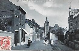 CPA / AK / PK  -  FONTAINE  L ' ÉVÊQUE Rue De L'enseignement - Fontaine-l'Evêque