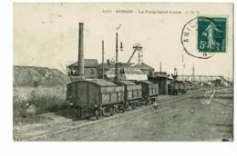Somain - La Fosse Saint-Louis (Wagonnets Sur Rails, Cheminée, Chevalement) Circulé 1909, Arrachements Au Verso - Andere Gemeenten