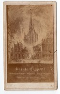 PARIS  LA SAINTE CHAPELLE MIRACULEUSEMENT PRESERVEE DE L INCENDIE PAR LES DESASTRE DE 1871  PHOTO ORIGINALE - Lieux