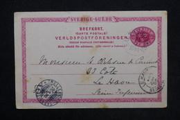 SUÈDE - Entier Postal De Saltsjobiden Pour Le Havre En 1899 - L 24282 - Postal Stationery