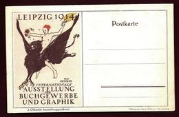 ALL-BL 39-  CARTE OFFICIELLE NEUVE DES ARTS GRAPHIQUES LEIPZIG 1914- TTB- - Lettres & Documents