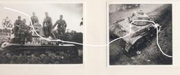 JL 1Armée Française Chars Hotchkiss Détruits Et Abandonnés Dans L'Entre Sambre Et Meuse Repro - 1939-45