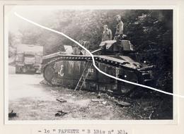JL 1 Armée Française Chars B1bis 'Papeete' Capturé Mai 40 Repro - 1939-45